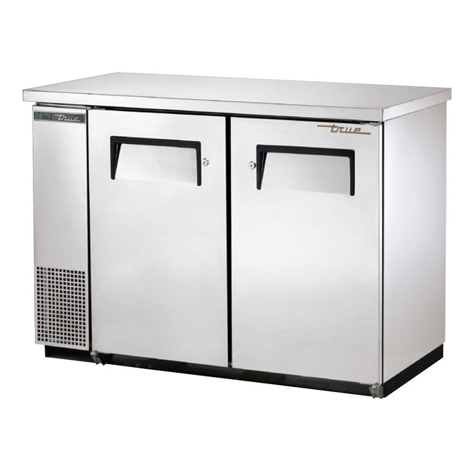 True TBB-24-48-S-HC Stainless Steel Back Bar Cooler from the front