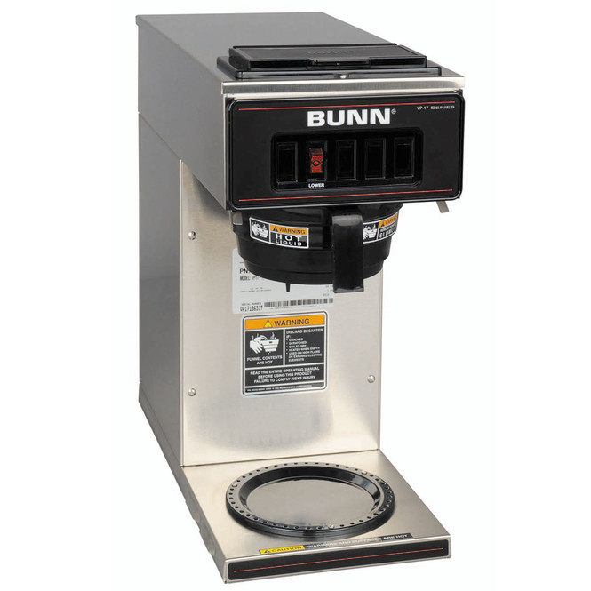Bunn VP17-1 Pourover Coffee Brewer 1 Warmer Stainless Finish 13300.0001