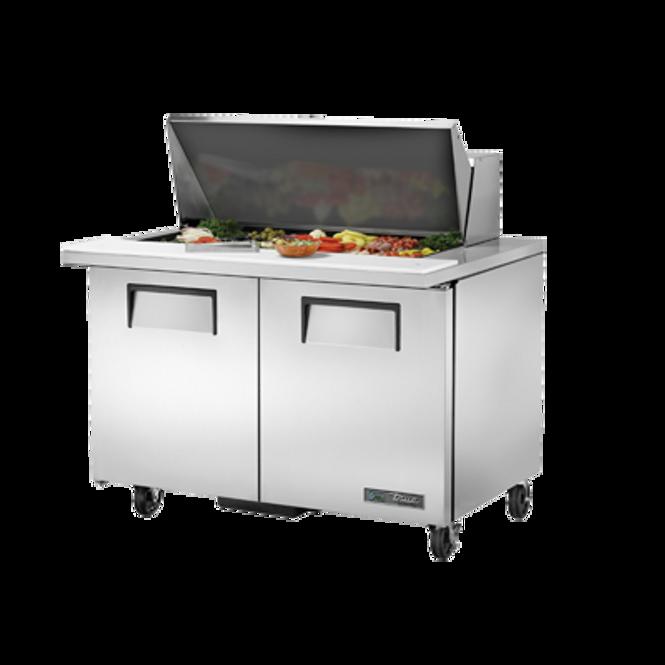 "True TSSU-48-18M-B-HC - 48"" 18 Bin Sandwich/Salad Prep Table"