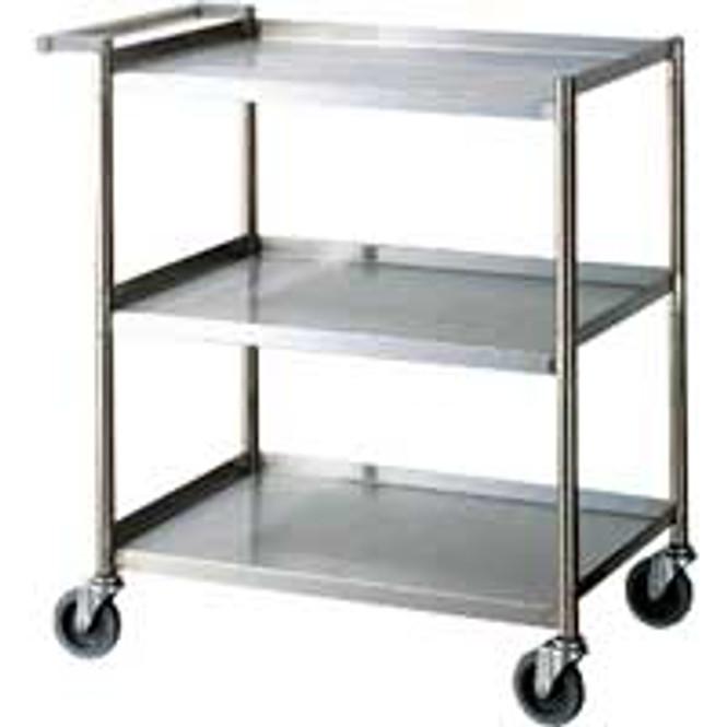 "Turbo Air TBUS-1828 - 28""x18""x33.5"" Stainless Steel Three Shelf Cart"