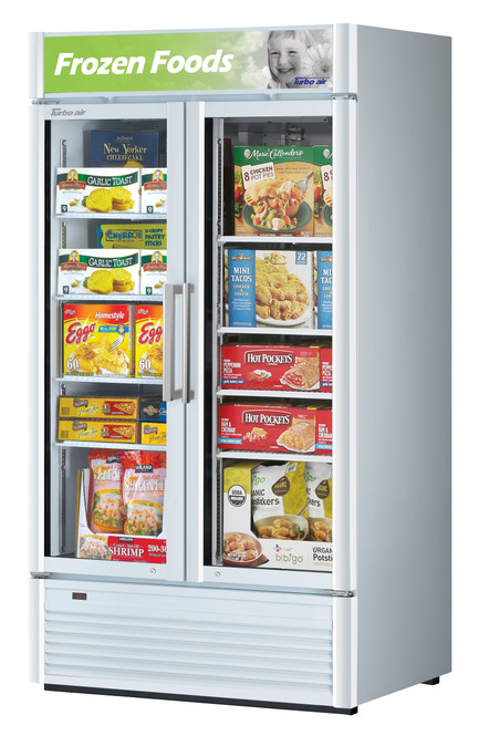 Turbo Air TGF-35SDW-N 28.44 cu. ft. Glass Door Merchandising Freezer