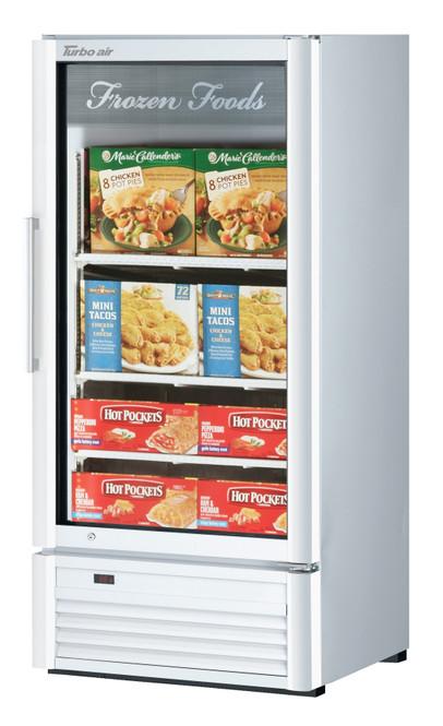Turbo Air TGF-10SDW-N 7.92 cu. ft. Glass Door Merchandising Freezer