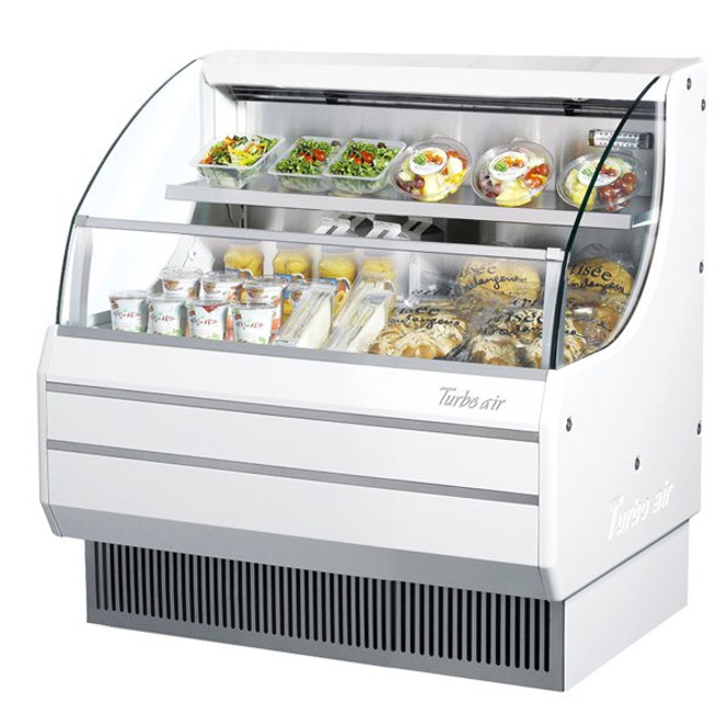 Turbo Air TOM-40L White Model Open Display Merchandiser