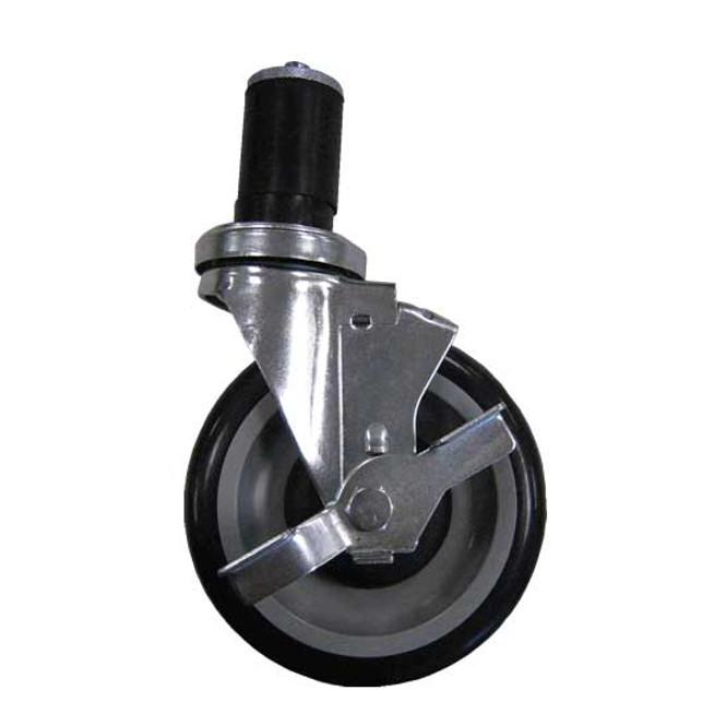 BK Resources 5SBR-RA-PLY-TLB - Expanding Stem Caster w/Brakes