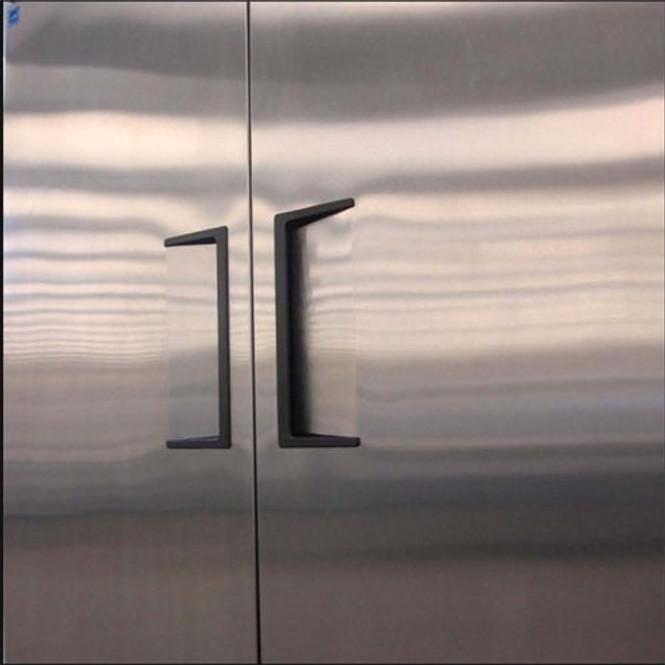 Two lifetime-guaranteed recessed door handles