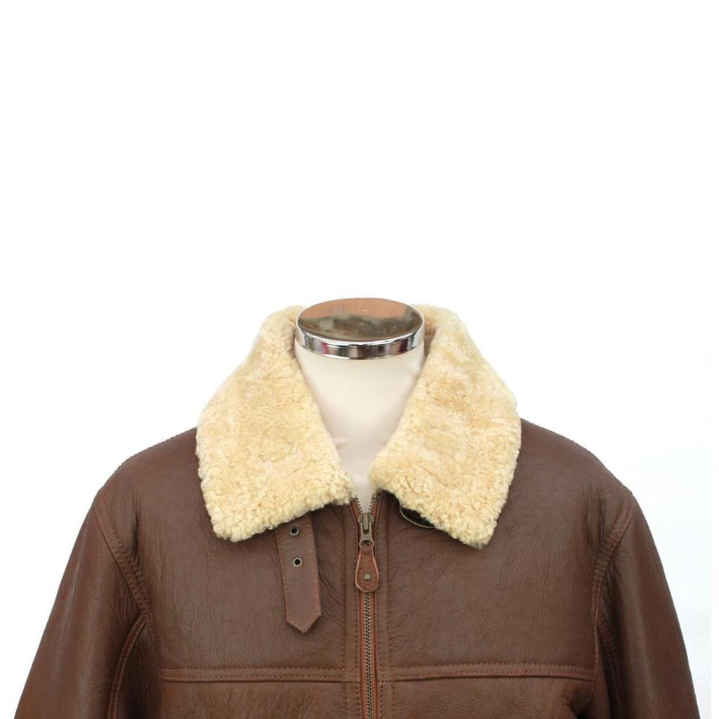 Men's Sheepskin Jacket - Shaun (Cognac)