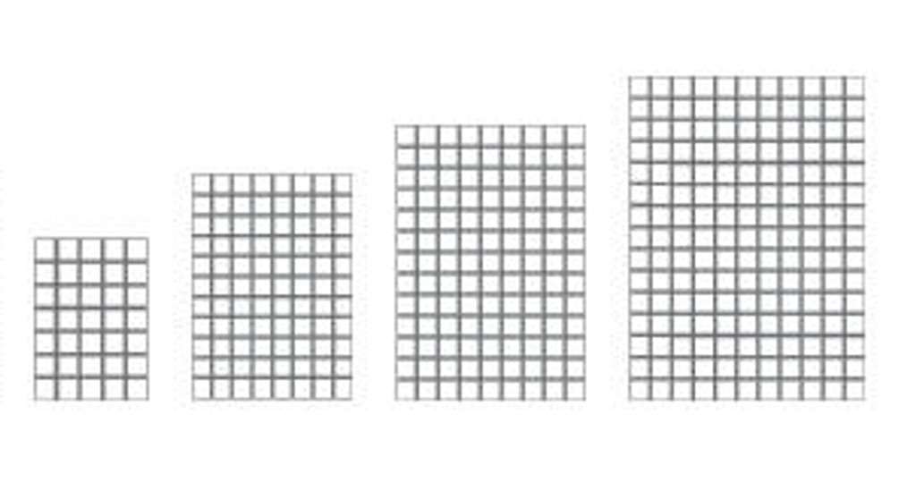 Pattern on the four rug sizes