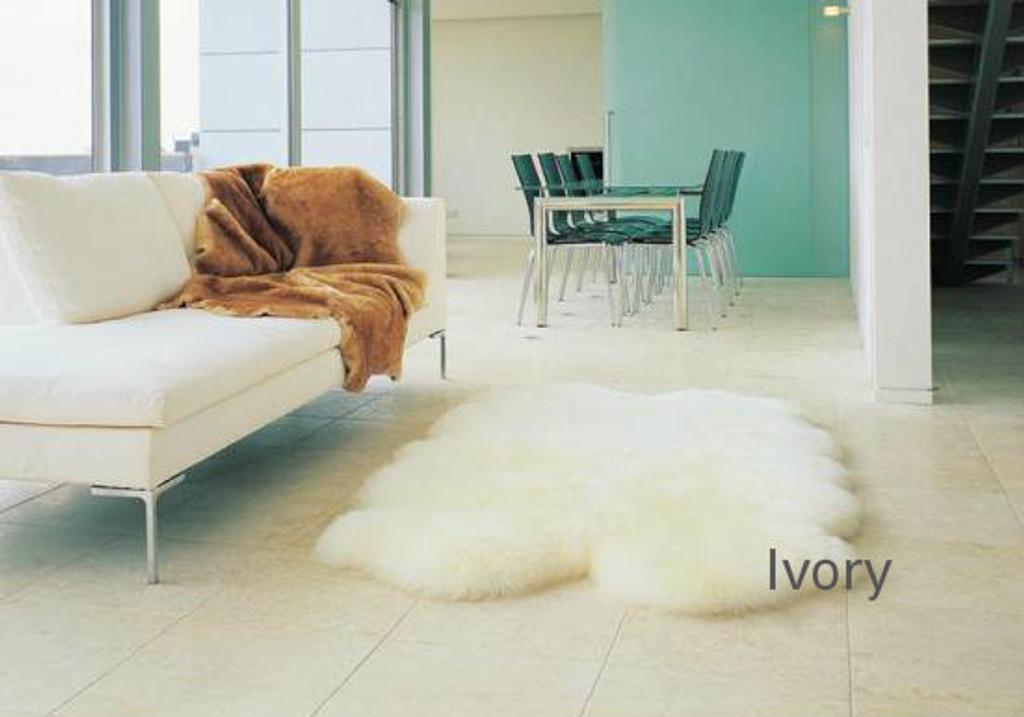 Ivory quarto sheepskin rug