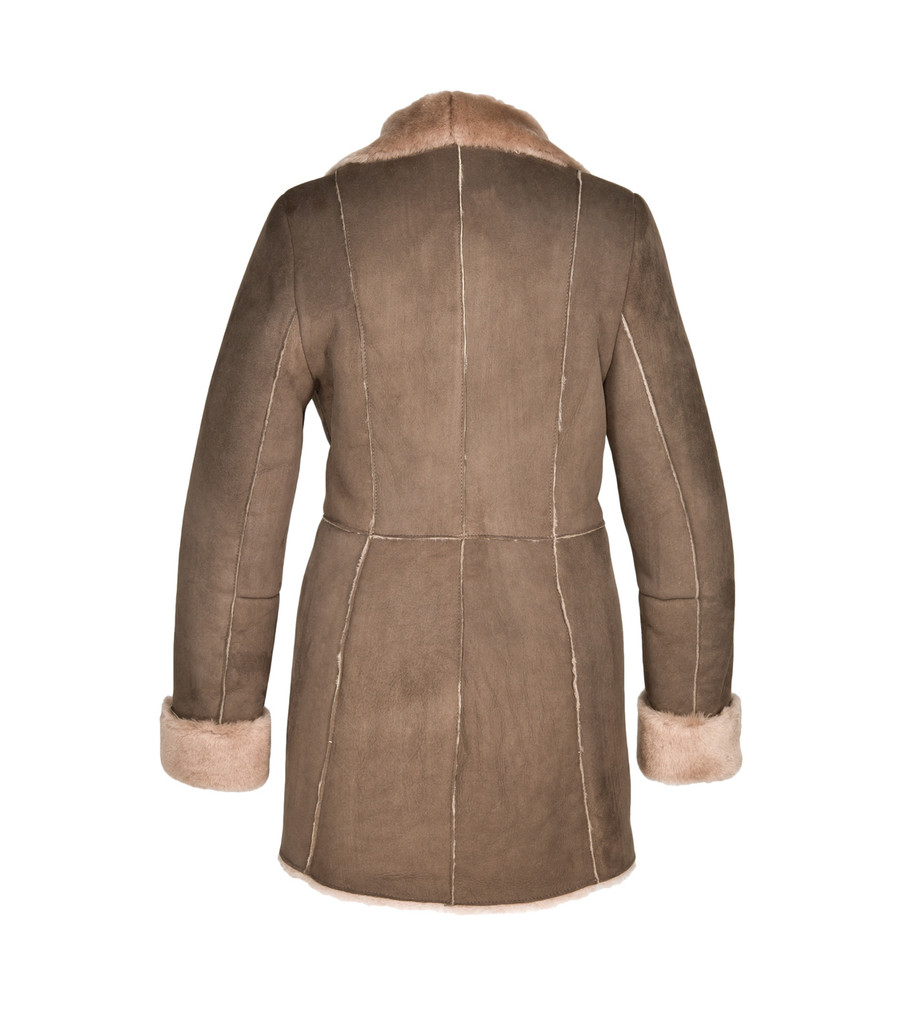 Sheepskin Coat - Anna (Mushroom or Tan)