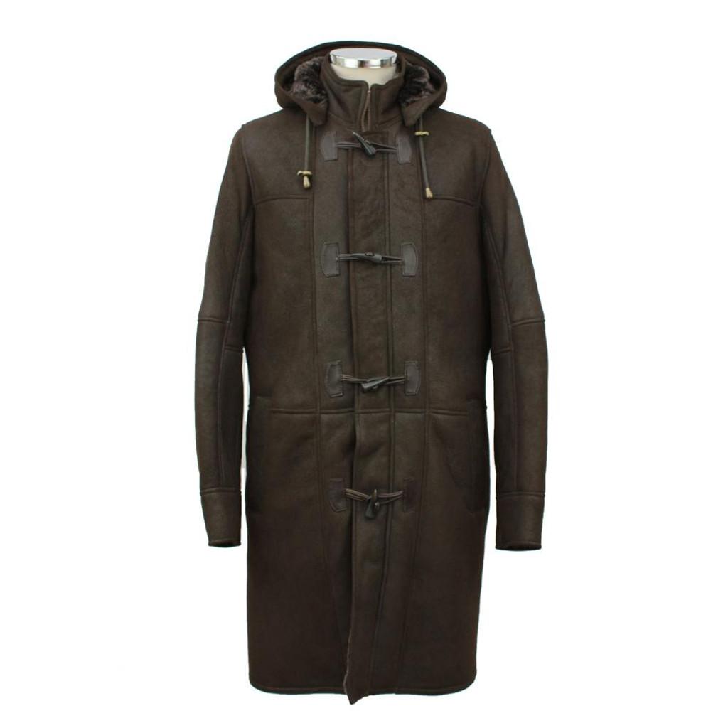 Men's Aviator Finish Sheepskin Duffle Coat