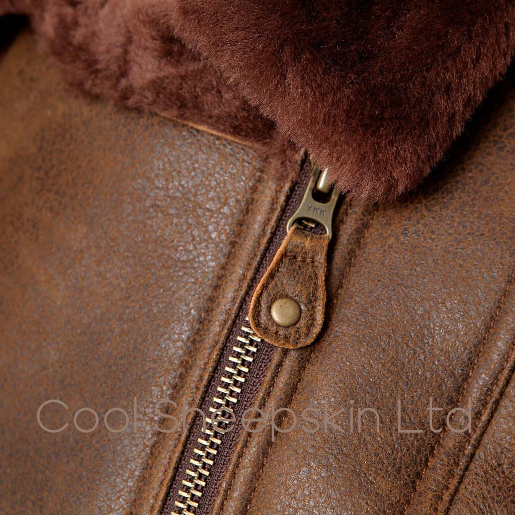 Womens Sheepskin Jacket - India (Rusty)