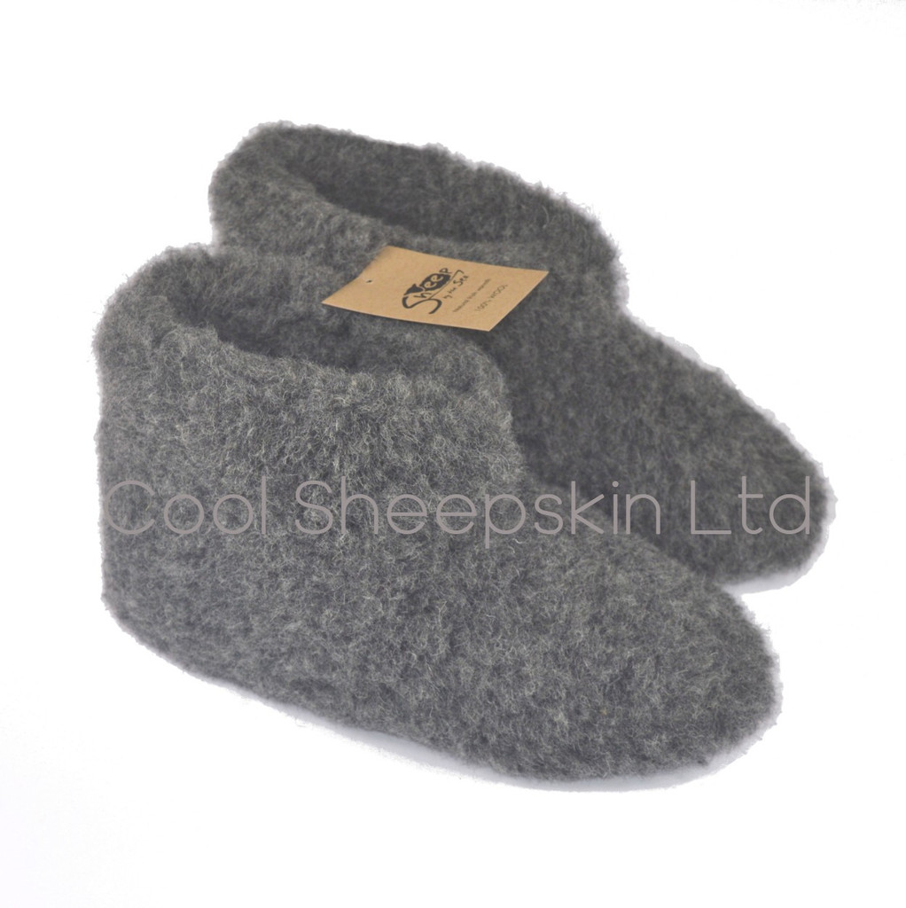 Cold Breaker Wool Bootie  Slippers With Anti slip Sole