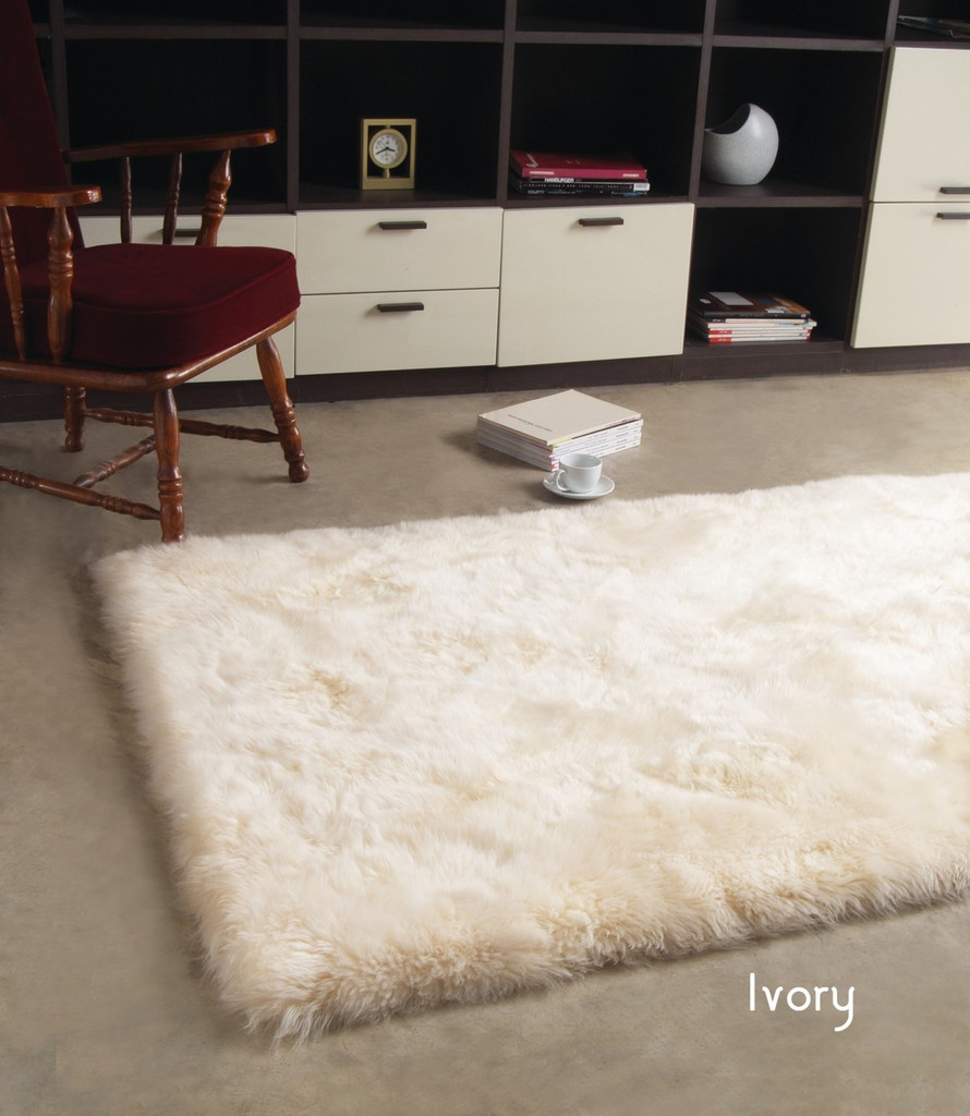 Rectangular Sheepskin Area Rug 150cm x 240cm