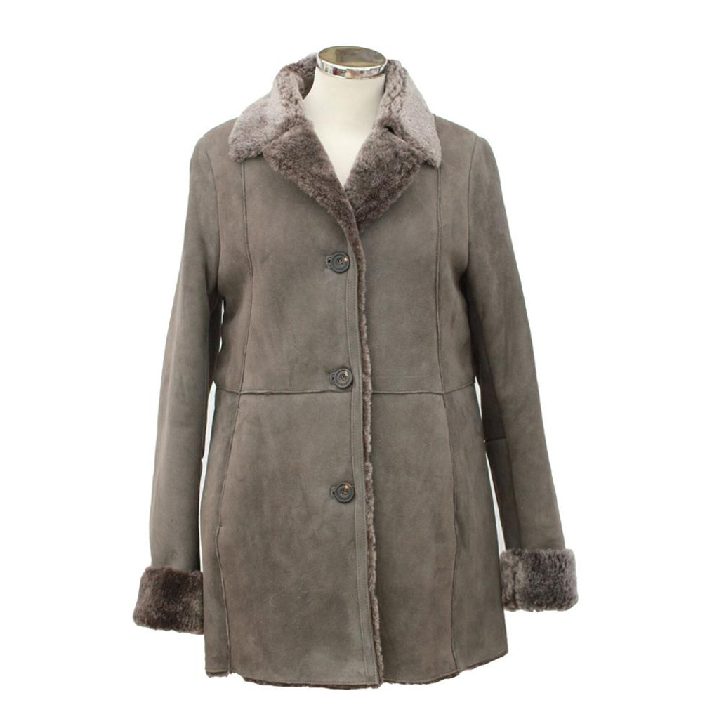 Sheepskin Coat - Anette (Tan or Mushroom)