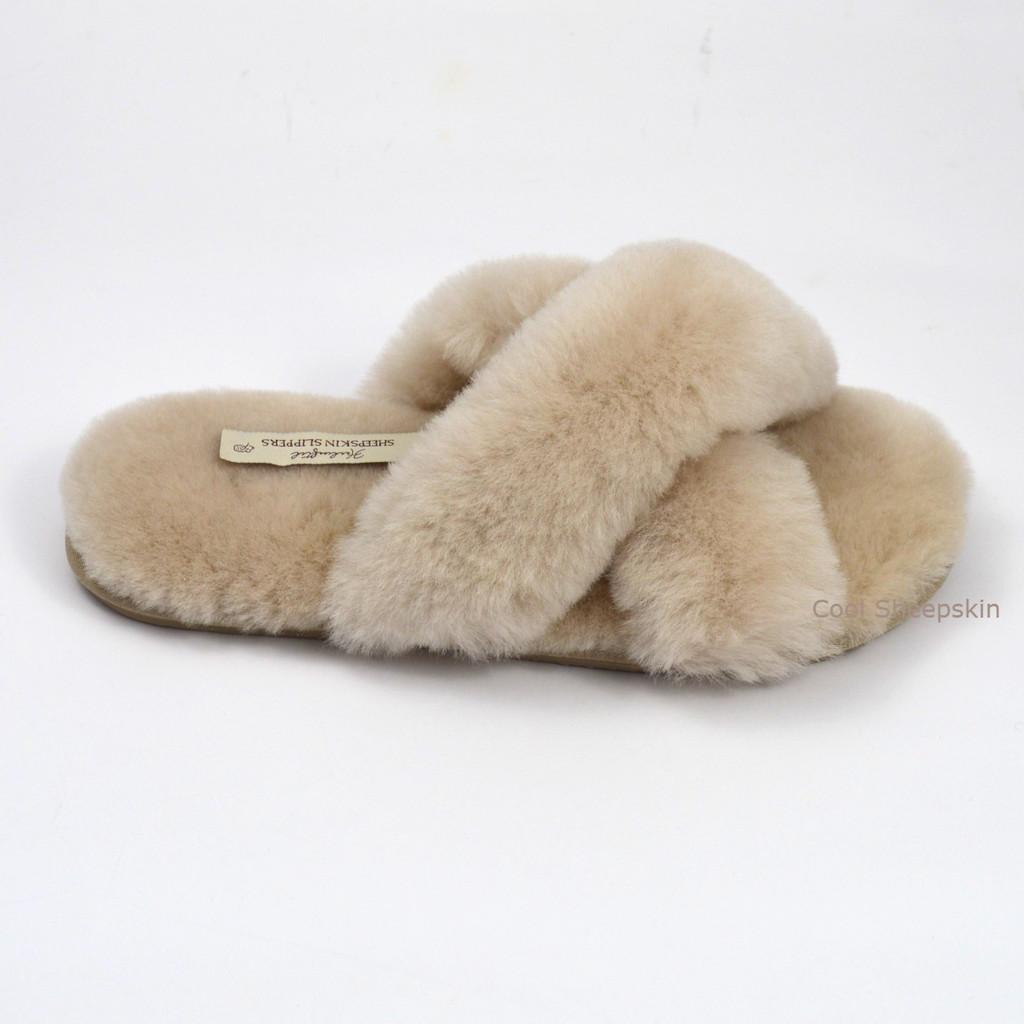 Sheepskin Crossover Slippers