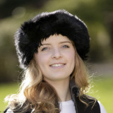 Ladies Sheepskin Hat - Moritz (Black)