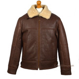 Men's Sheepskin Bomber Jacket - (Cognac)