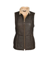 Women's Sheepskin Gilet - Chocolate Forest
