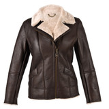 Ladies Sheepskin Jacket - Mepal (Dark Brown Nappa)