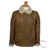 Women's Aviator Sheepskin Jacket (Whiskey)