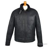 Men's Sheepskin Aviator Jacket - (Black)