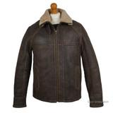 Men's Sheepskin Jacket - (Chocolate Forest Distressed)