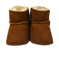 Sheepskin Baby Booties - Sweet Pea (Chestnut)