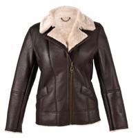 Ladies Sheepskin Jacket - Mepal (Dark Brown Nappa)