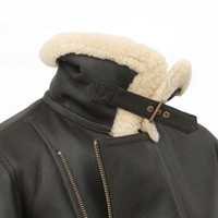 Men's Sheepskin Flying Jacket - Blenheim (Dark Brown)