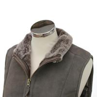 Women's Grey Sheepskin Body Warmer