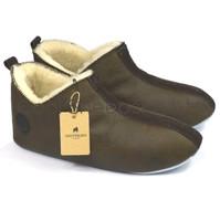 Men's Sheepskin Slippers Soft Sole