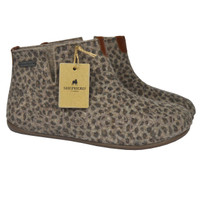 Ester Wool Felt Slipper Boot - Leopard