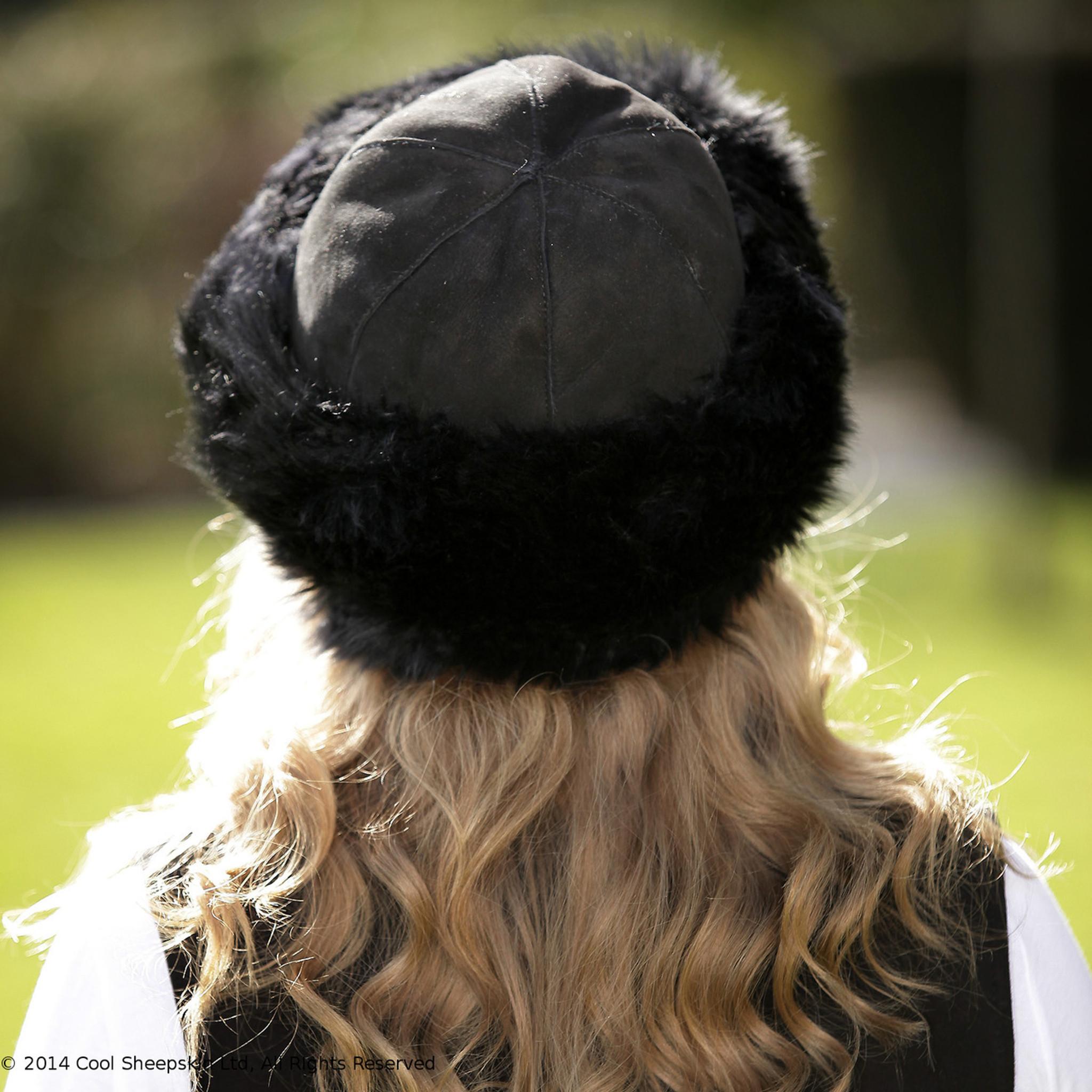 Ladies Black Sheepskin Hats from Cool Sheepskin 082a2aa52bd