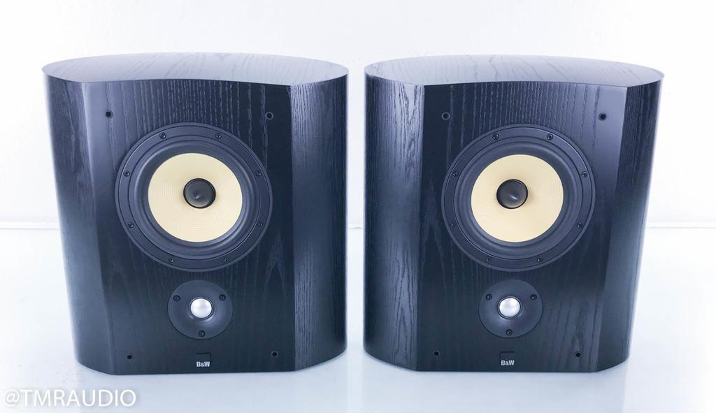 B&W SCMS On-Wall Surround Speakers; Black Ash Pair