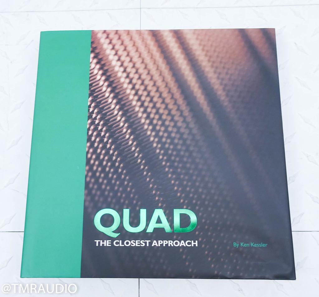 Quad ESL 2912 Electrostatic Floorstanding Speakers; Black / Rosewood Pair