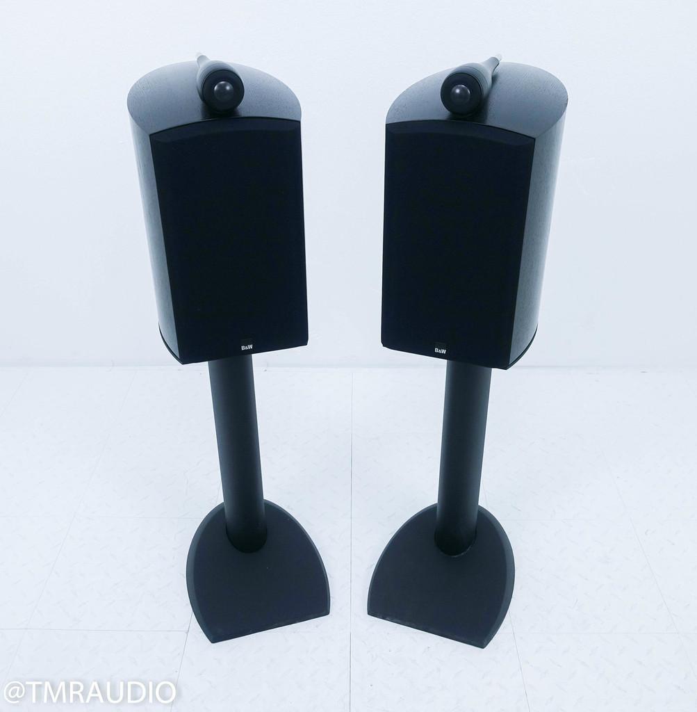 B&W 805S Bookshelf Speakers w/ Stands; Black Ash Pair; 805-S