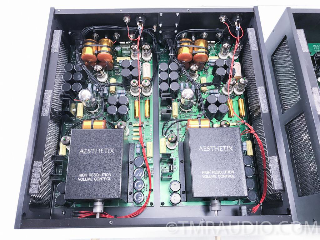 Aesthetix IO Eclipse Phono Preamplifier w/ Volume Option; Silver; New Tubes
