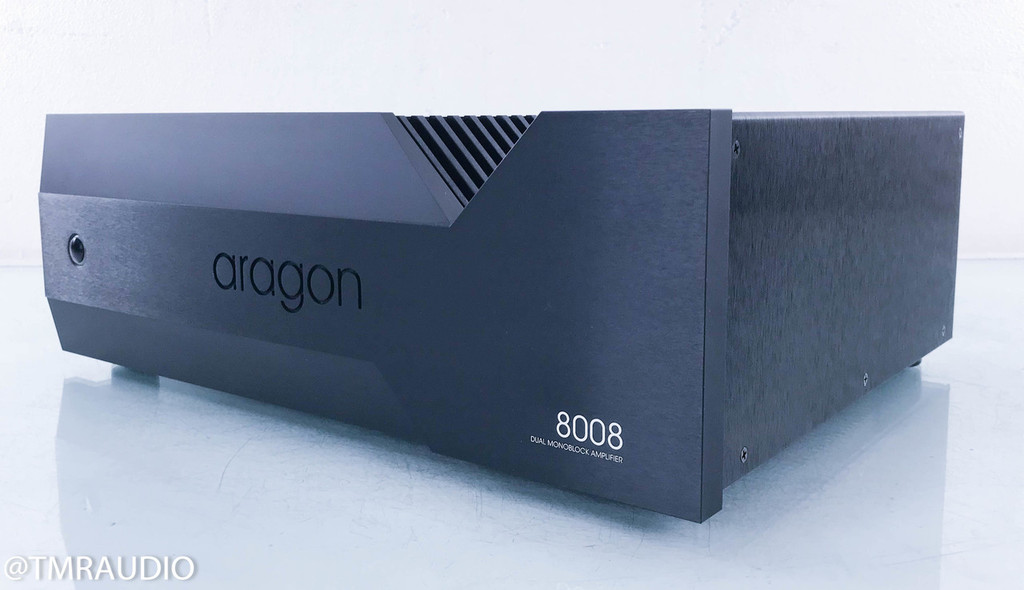 Aragon 8008 Dual Mono Power Amplifier; Black
