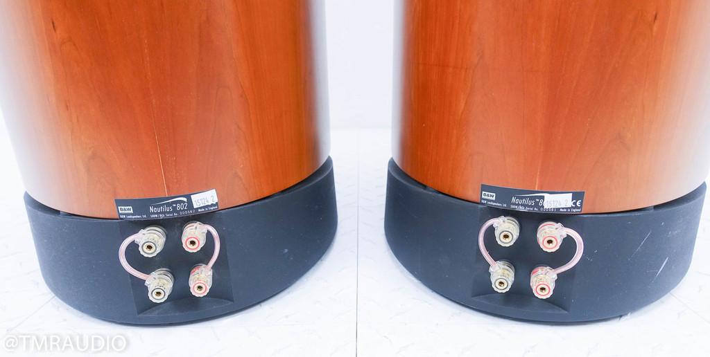 B&W Nautilus 802 Floorstanding Speakers; Cherrywood Pair (2/2)