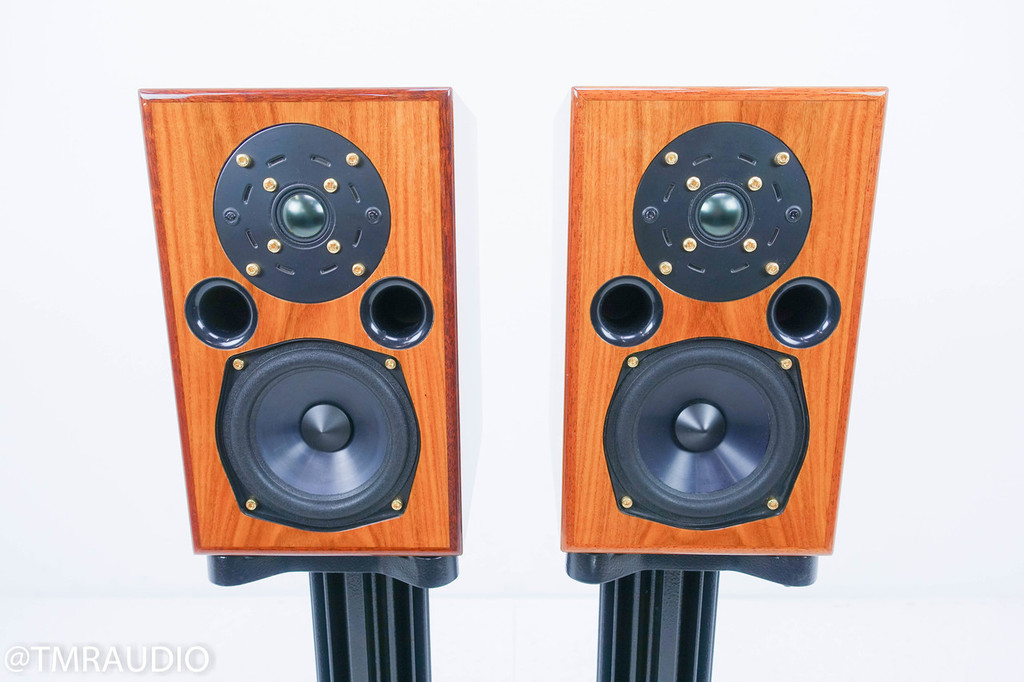 AE AE-1 Signature Bookshelf Speakers; Santos Rosewood Pair w/ Stands