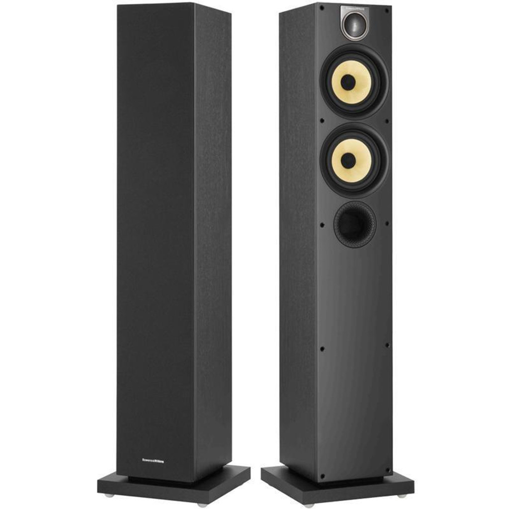 B&W 684 S2 Floorstanding Speakers; Black Ash Pair (New)