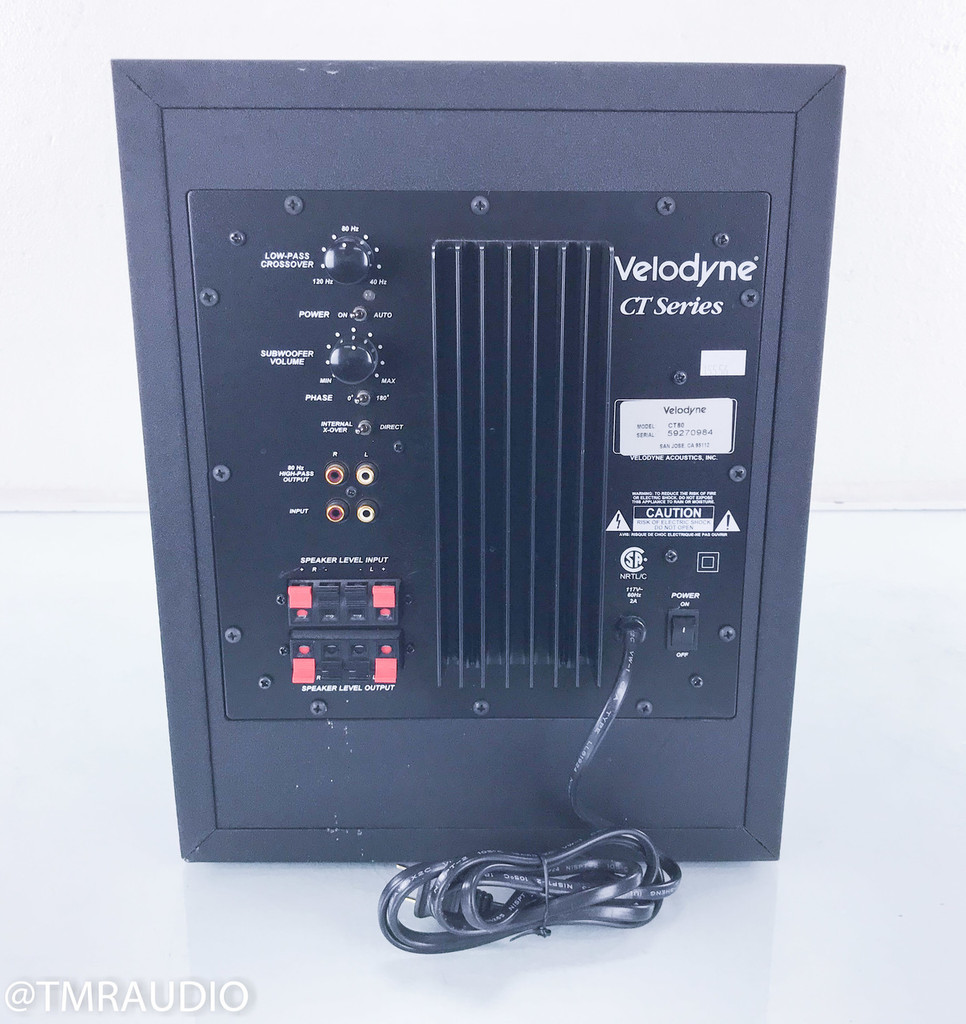 "Velodyne CT-80 8"" Powered Subwoofer; Black"