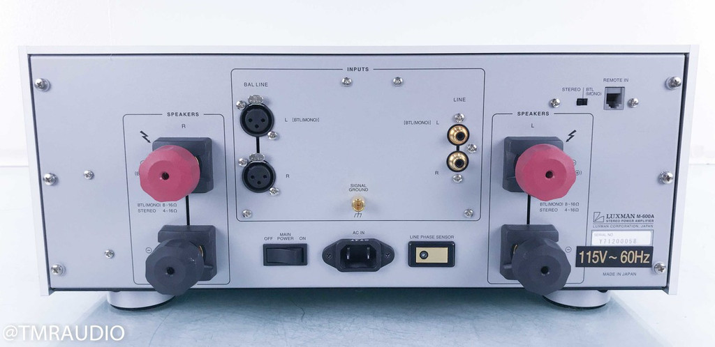 Luxman M-600A Stereo Power Amplifier; M600A (2/2)