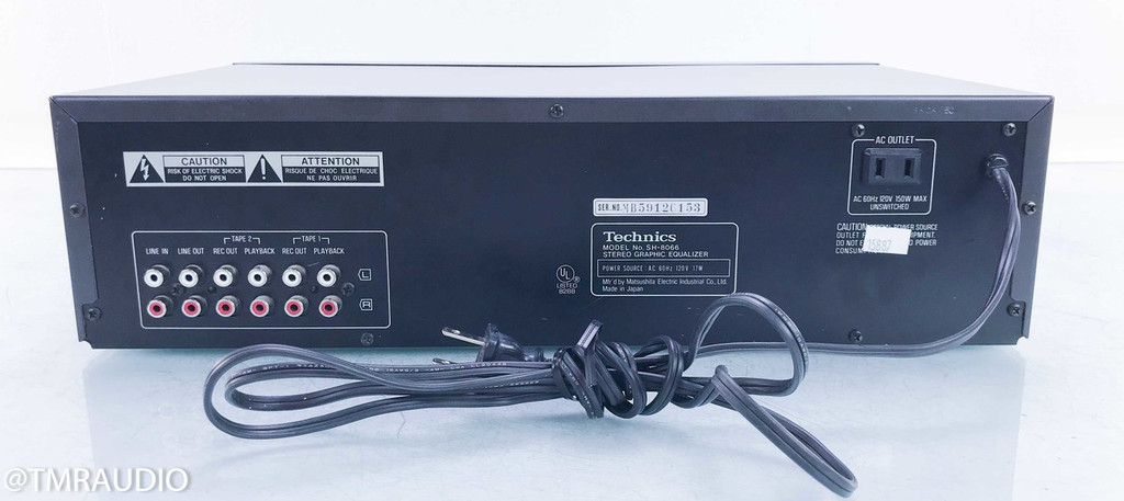 Technics SH-8066 Stereo Graphic Equalizer w/ Microphone; Technics RP-3800E Mic