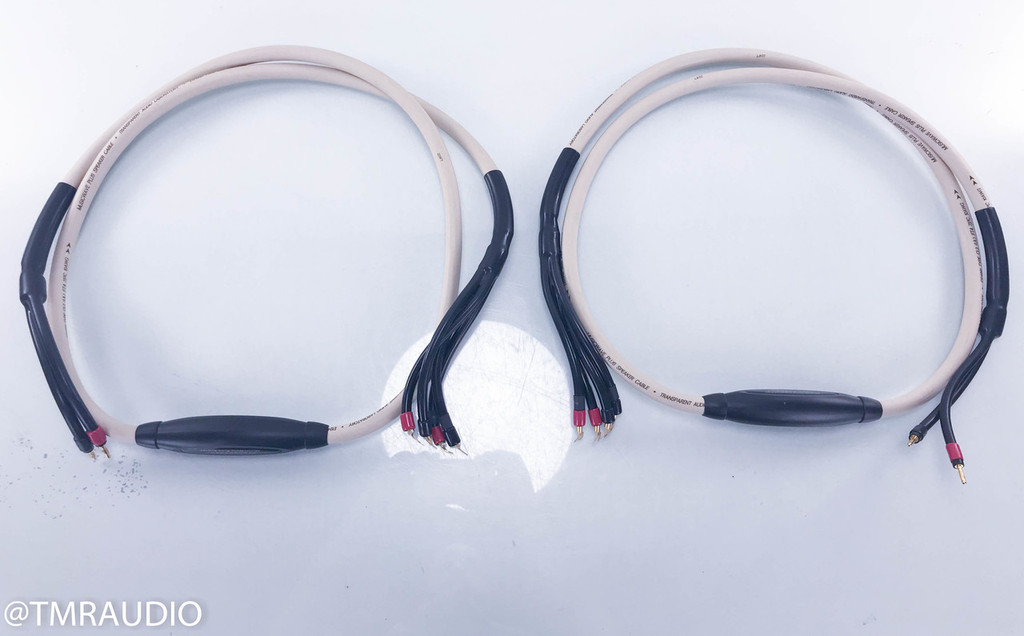 Transparent Audio MusicWave Plus Biwire Speaker Cables; MWPBW 8; 8ft Pair