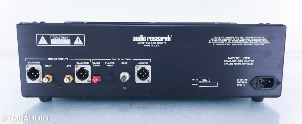 Audio Research CD1 CD Player / Transport; Remote; CD-1