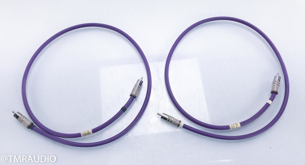 Pure Note Paragon Enhanced RCA Cables; 1m Pair Interconnects