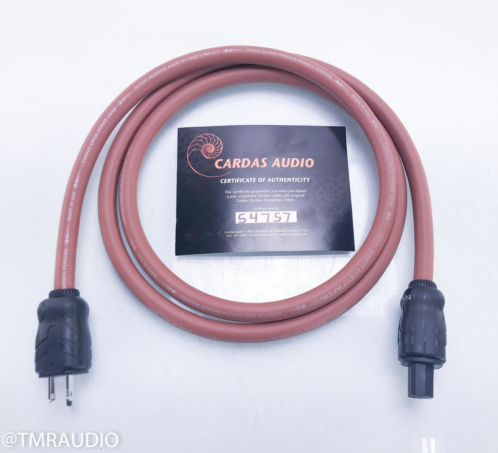 Cardas Cross Power Cable; 2m AC Cord