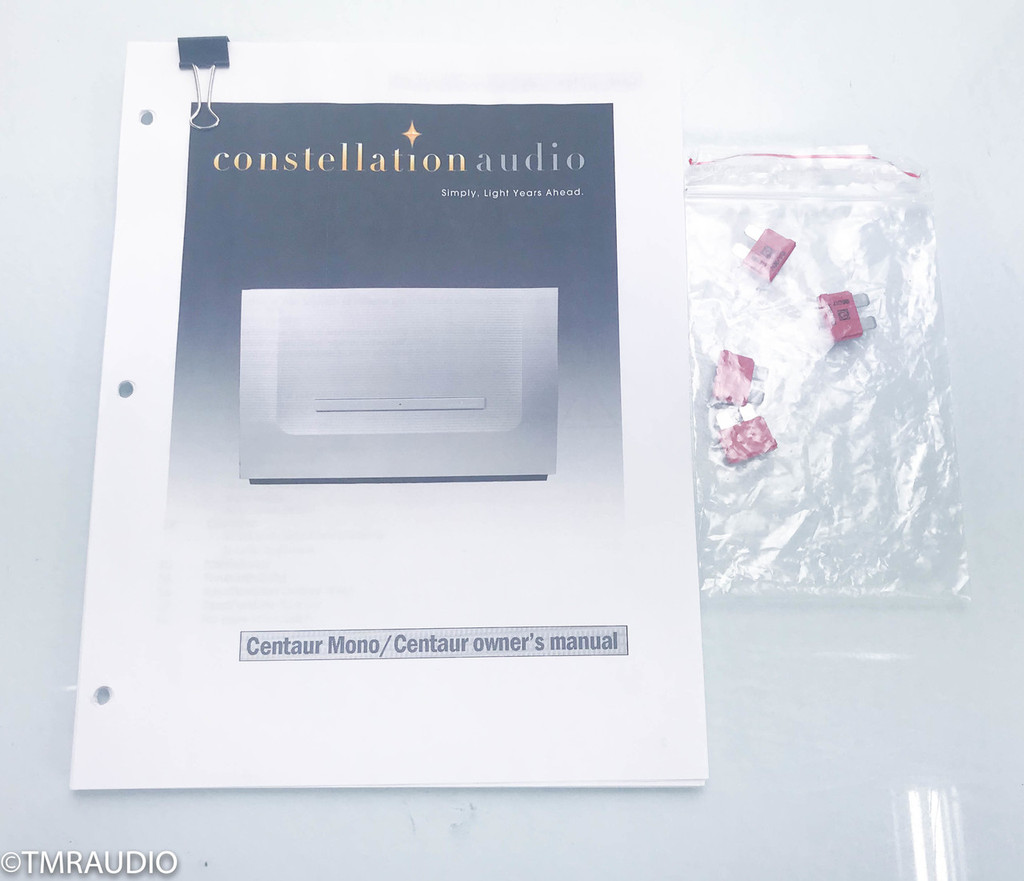 Constellation Centaur Mono Power Amplifier; Silver Pair