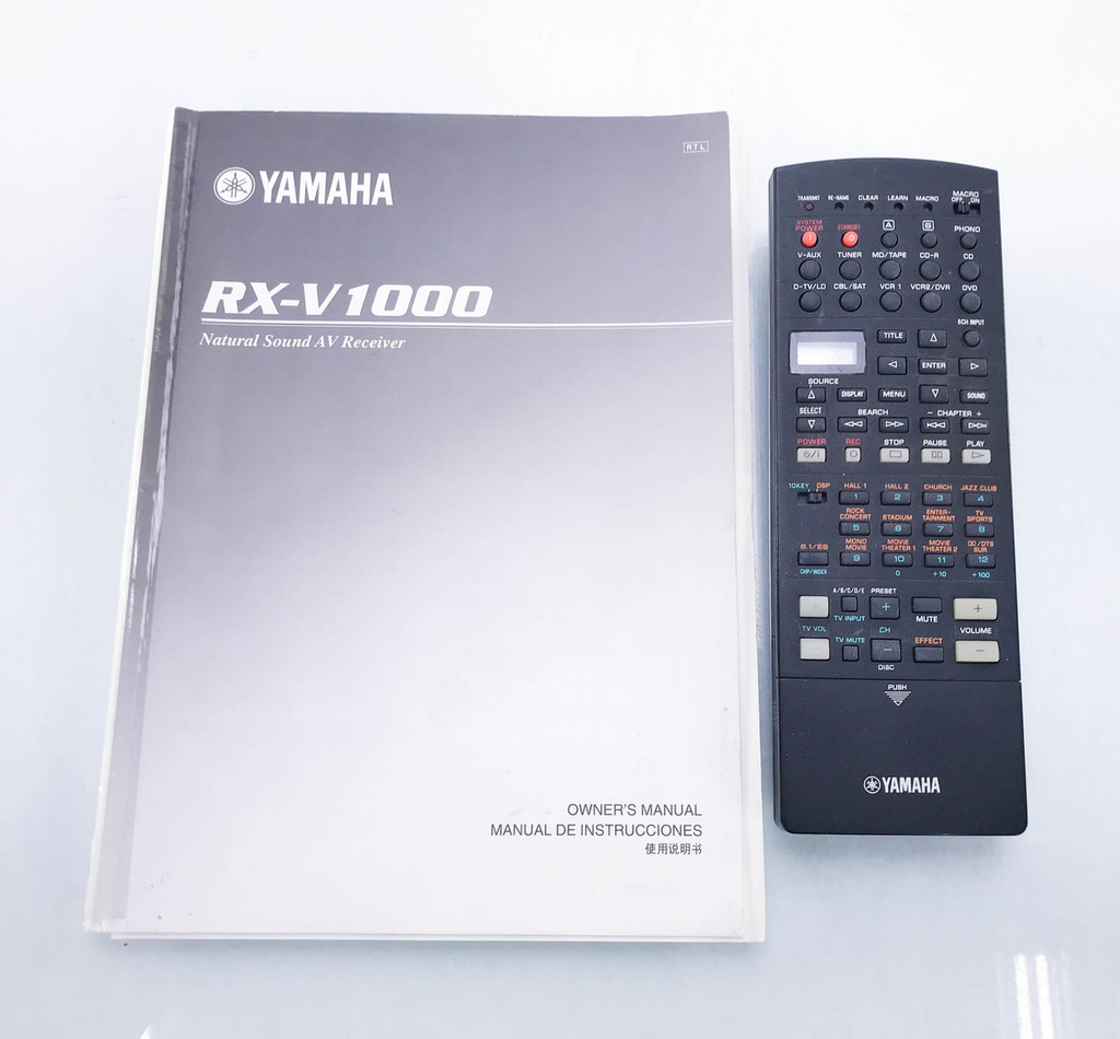Yamaha RX-V1000 5.1 Channel Home Theater Receiver; RXV1000